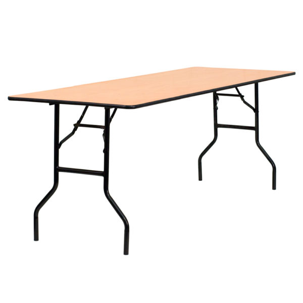 30u201dw x 72u201dl rectangular wood folding table