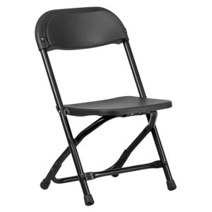Black-Kids-Plastic-Folding-Chair
