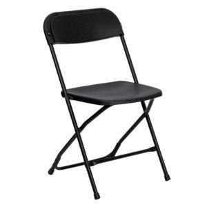 Black-Plastic-Folding-Chair