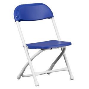 Blue-Kids-Plastic-Folding-Chair