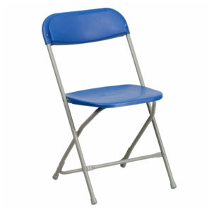 Blue-Plastic-Folding-Chair