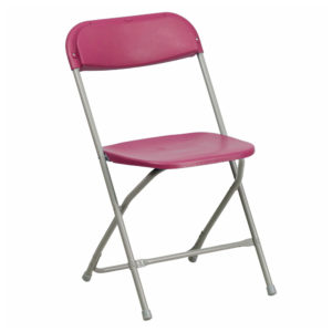 Burgundy-Plastic-Folding-Chair