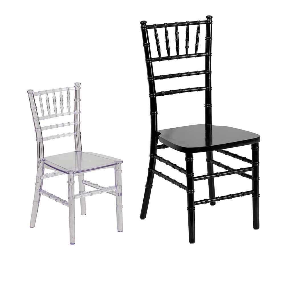 ... Clear Kids Chiavari Chair Size Comparison