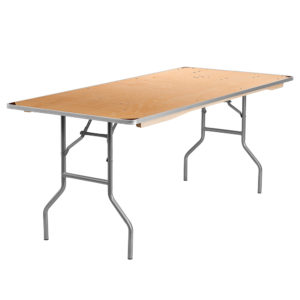 Rectangular-Table-6-Foot-Seats-6-to-8-people-36%22W-x-72%22L