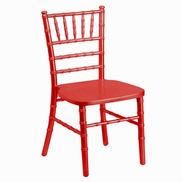 red kids chiavari chair