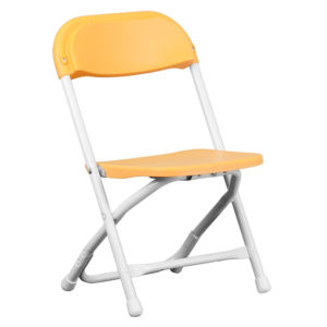 Yellow-Kids-Plastic-Folding-Chair