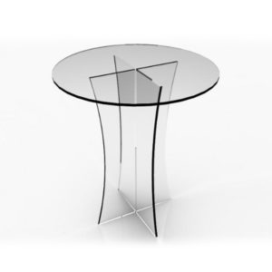 round-acrylic-table