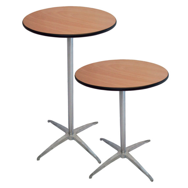 30″ Round Post Height 30″ Or 42″ Cocktail Table