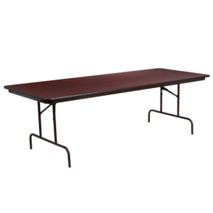 """Rectangular Table 6 Foot Seats 6 to 8 people 30"""" W x 60"""" L – Red ..."""