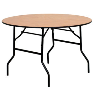 48%22-Round-with-32%22H-Wood-Folding-Table-6-to-8-People