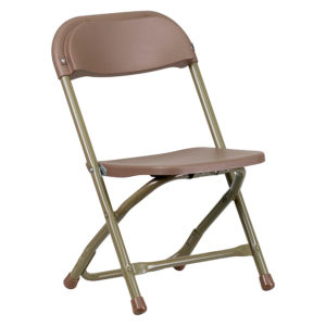 Brown-Kids-Plastic-Folding-Chair