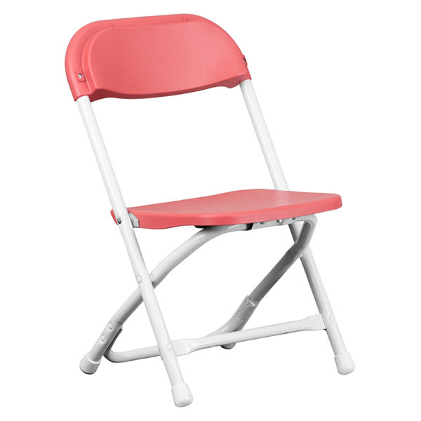 Burgundy-Kids-Plastic-Folding-Chair