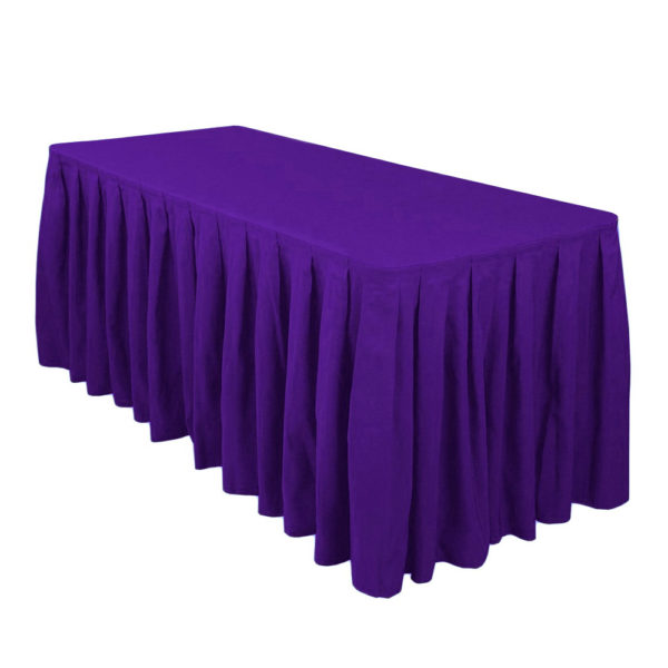 Purple Table Skirts Red Balloon Party Rental