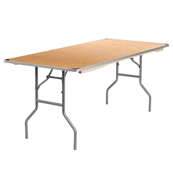 Rectangular table 6 foot seats 6 to 8 people 30 w x 60 l for Table 6 feet