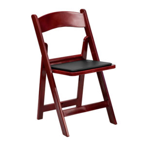 Red-Mahogany-Resin-Folding-Chair-with-Black-Vinyl-Padded-Seat