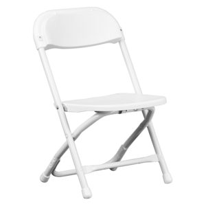 White-Kids-Plastic-Folding-Chair