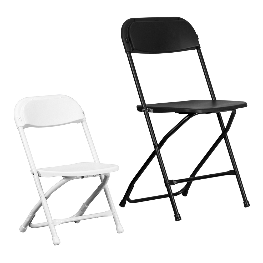 White Kids Plastic Folding Chair – Red Balloon Party Rental
